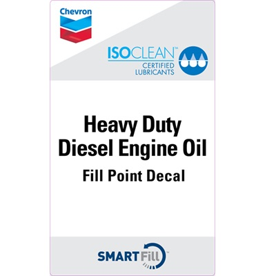 "ISOCLEAN Heavy Duty Diesel Engine Oil Decal - 3"" x 5"""