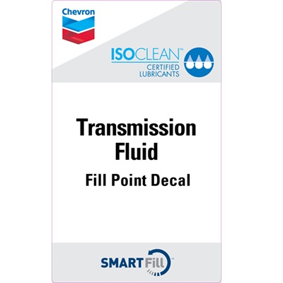 "ISOCLEAN Transmission Fluid Decal - 3"" x 5"""