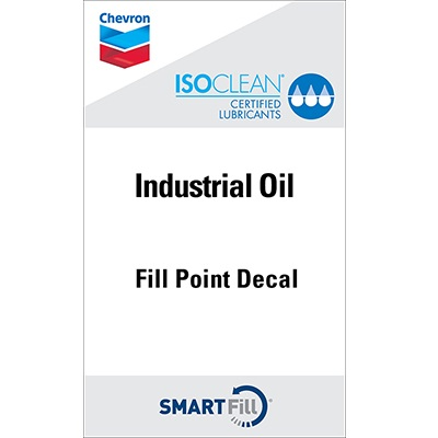 "ISOCLEAN Industrial Oil Decal - 3"" x 5"""