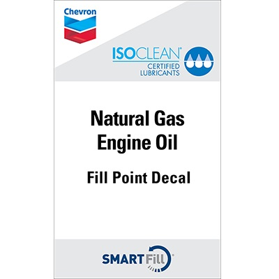 "ISOCLEAN Natural Gas Engine Oil Decal - 3"" x 5"""