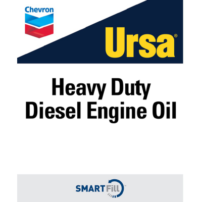 "Ursa Heavy Duty Diesel Engine Oil Decal - 7"" x 8.5"""