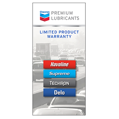 Chevron Product Warranty Brochures (pkg/50)