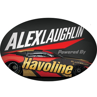 Laughlin Oval Sticker (set/25)