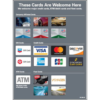 Credit Card Decal